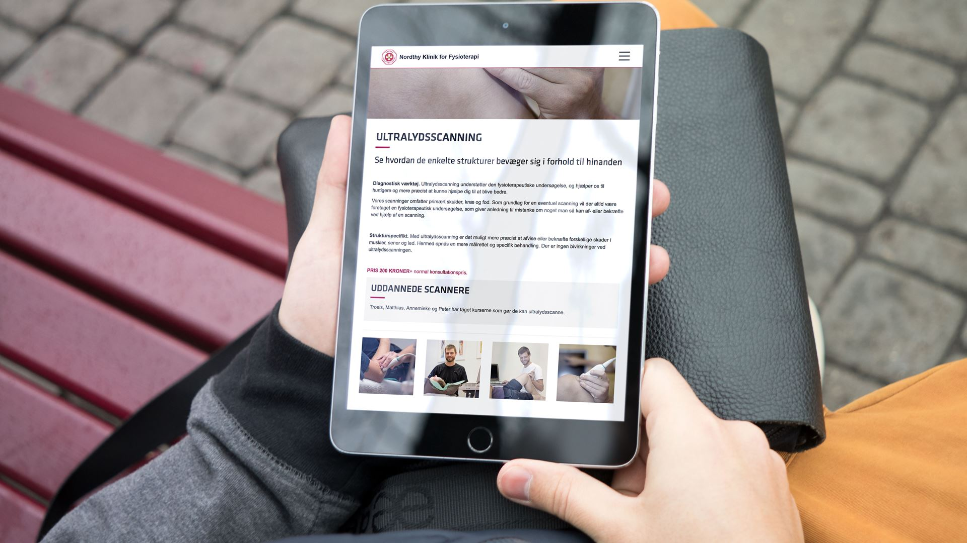 Nordthy Klinik for Fysioterapi website iPad